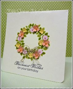 A Wondrous Wreath Birthday Card! Just add little flowers.