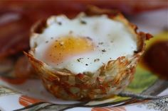Egg and cheese hashbrown nests from acozykitchen.com