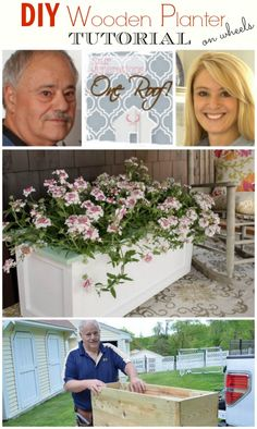 How to make a wooden planter on wheels by a father and daughter duo. @Mandy Bryant Dewey Generations One Roof
