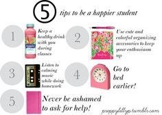 5 tips to be a happier student!