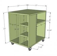 Cube CPU Cart - cool idea for bookshelf. Can *always* use more bookshelves