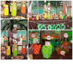 Safari baby shower candy buffet