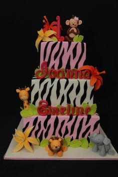 Safari Birthday Cake ~