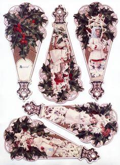 Victorian Christmas Fan printable