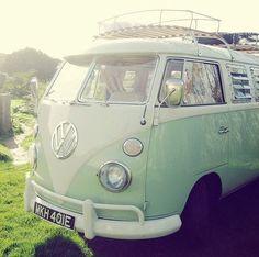 mint hippie van