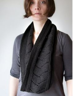 Accessorize yourself with scarves even in warmer weather.  This classic lacy design is perfect for spring and summer!  A free #knitting pattern is included.