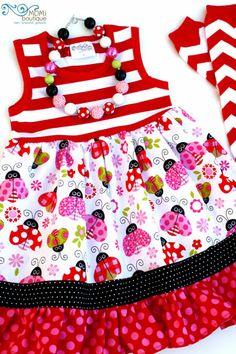 Sweet Bug dress Valentine Spring Summer MOMI boutique toddler girl