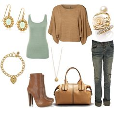 Brown and Gold accents w/ a spalsh of mint, created by vidah