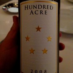 2008 Hundred Acre. Cabernet Sauvignon from Napa. I am still dumbstruck that I am drinking it.