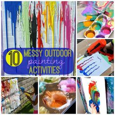 10 messy outdoor painting activities - Wildflower Ramblings