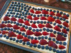 patriotic fruit pizza