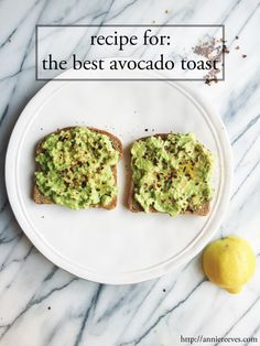 The Best Avocado Toa