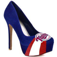 HERSTAR™ Women's Minnesota Twins High Heel Suede Pumps
