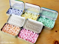 """How to Make Your Own """"Curiously Strong Mints"""" {Altoids}!  Any flavor you can dream up!  Fun little gift idea. :-)"""