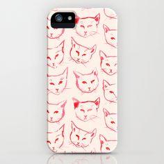 red cat iphone case.