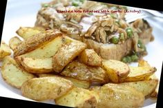 Roasted New Potatoes With Garlic (Actifry) potato