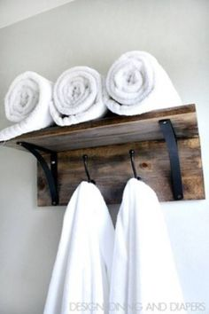 Wooden Towel Organiz