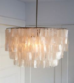 Gorgeous capiz chandelier