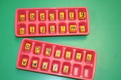 Use ice cube trays for the letter stamps that will go in the Word Works station! So clever!!!