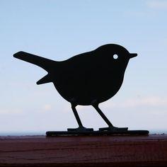 Flockfolie Silhouet roodborstje