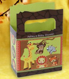 Safari Baby Shower Favor Bags - Personalized