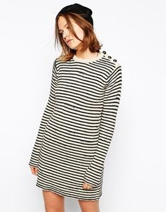 Zadig and Voltaire Knitted Dress in Stripe