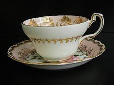 Vintage Foley Bone China Tea Cup & Saucer via Etsy