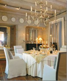 elegant and rustic dining room