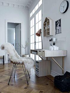 ! interior, office spaces, desks, hous, homes, floor patterns, bureau, home offices, workspac