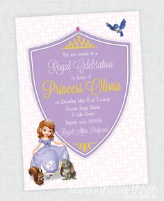 seven thirty three - - - a creative blog: Sofia the First Birthday Party Invites