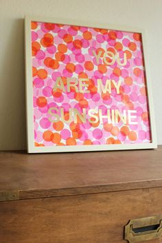 DIY Nursery Poster Art | Hellobee