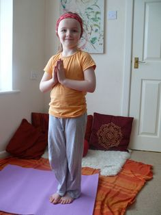 Yoga for Kids by herewearetogether: Do a Sun Salutation ! #Yoga #Kids