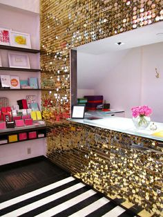 a sequin wall…lovely!