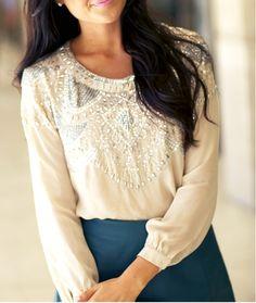 Brilliant blouse.