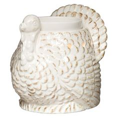 Tom Full-Size Scentsy Warmer PREMIUM - A full-feathered tom turkey glows from within when lit, while distressed edges give a lovingly worn look to its classic detailing.