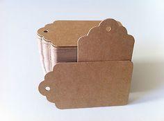 ON SALE! 100PCS 7*4cm DIY Kraft Brown Paper Tags + Free Twines!!!