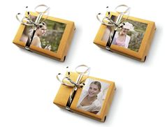 Bridal Party Gift with Photos #wedding - Make your bridal party gifts even more special by putting pictures on top of the gift boxes! Use the KODAK Picture Kiosk to make prints just the right size.