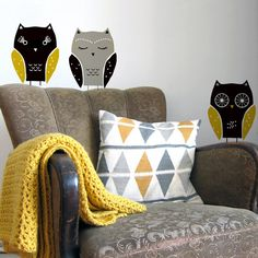 owls  wall decals by nuukk on Etsy, $21.90