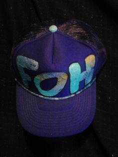 $15 F.O.H purple trucker hat