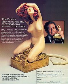 Erotica phone circa 1970s. I'm speechless. erotica, awkward moments, telephones, 1970s, blog, wtf, vintage ads, extensions, cords