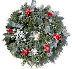 Wreath with snowflakes