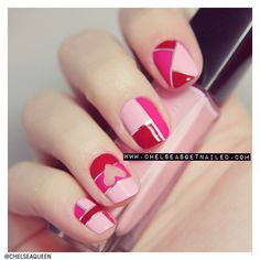 valentine nail art, valentine day, color, nail designs, manicures