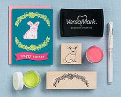 Time for some fresh springtime cards!  Check out our rubber stamp collection for lots of great springtime options.