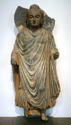 Buddha statue from the Gandhara-culture (1st century, Afghanistan)
