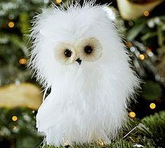 Feather Owl Ornament #potterybarn