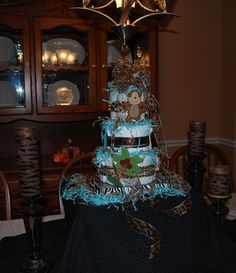 Diaper Cake I made for my sister's baby shower.