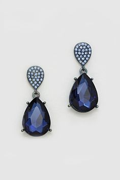 Crystal Vienna Earrings in Sapphire on Emma Stine Limited