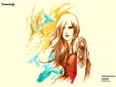 Camiseta 'Pássaros e Sonhos'. http://cami.st/p/1434