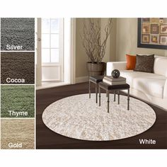 Alexa My Soft and Plush Multi Shag Rug (5' Round) | Overstock.com