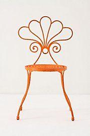 orange garden chair